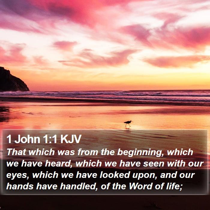 1 John 1:1 KJV - That which was from the beginning, which we have - Bible Verse Picture