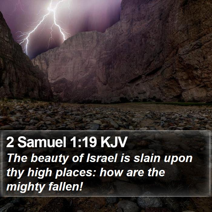 2 Samuel 1:19 KJV - The beauty of Israel is slain upon thy high - Bible Verse Picture