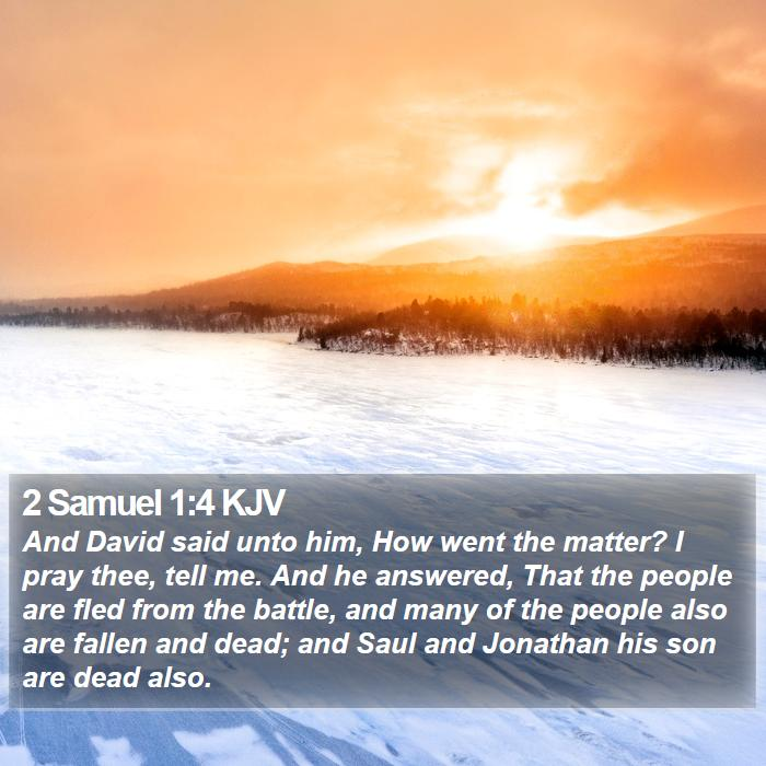 2 Samuel 1:4 KJV - And David said unto him, How went the matter? I - Bible Verse Picture
