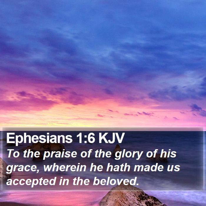 Ephesians 1:6 KJV - To the praise of the glory of his grace, wherein