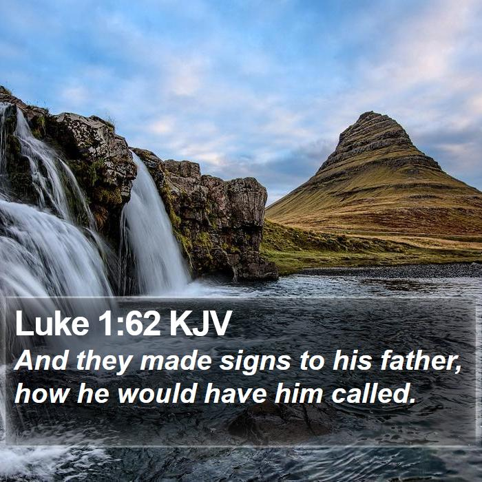Luke 1:62 KJV - And they made signs to his father, how he would - Bible Verse Picture