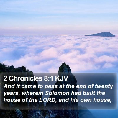 2 Chronicles 8:1 KJV Bible Verse Image