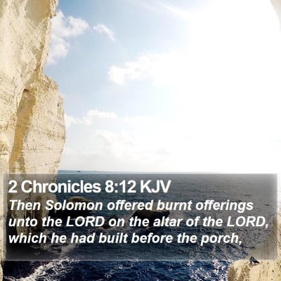 2 Chronicles 8:12 KJV Bible Verse Image