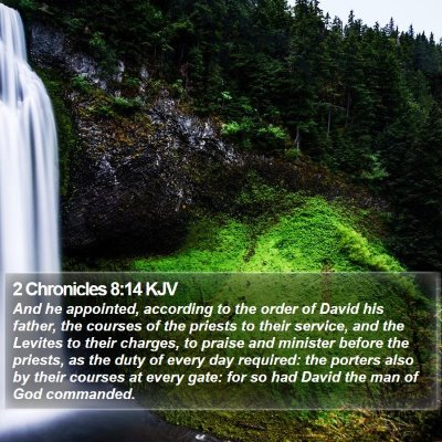 2 Chronicles 8:14 KJV Bible Verse Image