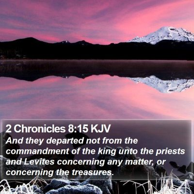 2 Chronicles 8:15 KJV Bible Verse Image