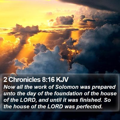 2 Chronicles 8:16 KJV Bible Verse Image