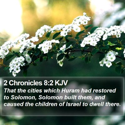 2 Chronicles 8:2 KJV Bible Verse Image