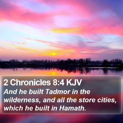 2 Chronicles 8:4 KJV Bible Verse Image