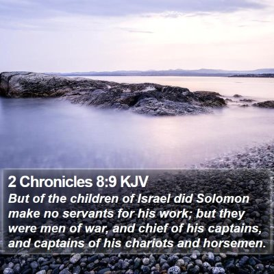 2 Chronicles 8:9 KJV Bible Verse Image